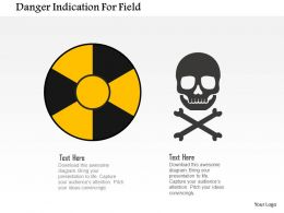 Danger Indication For Field Flat Powerpoint Design
