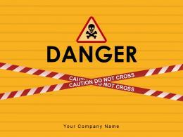 Danger Presence Awareness Signboard Construction Concrete