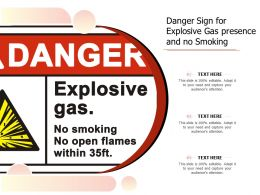 Danger Sign For Explosive Gas Presence And No Smoking