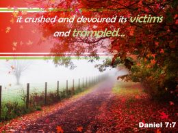 Daniel 7 7 It Crushed And Devoured Powerpoint Church Sermon
