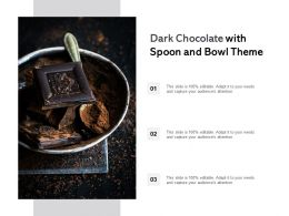 Dark Chocolate With Spoon And Bowl Theme
