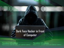 Dark Face Hacker In Front Of Computer
