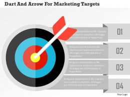 Dart And Arrow For Marketing Targets Flat Powerpoint Design