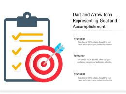 Dart And Arrow Icon Representing Goal And Accomplishment