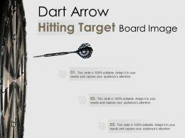 Dart Arrow Hitting Target Board Image