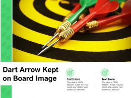 Dart Arrow Kept On Board Image