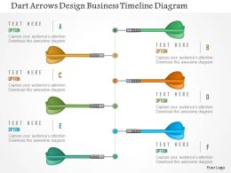 Dart Arrows Design Business Timeline Diagram Powerpoint Templates