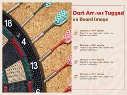 Dart Arrows Tugged On Board Image