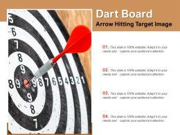 Dart Board Arrow Hitting Target Image