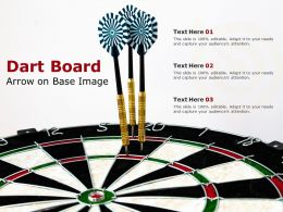 Dart Board Arrow On Base Image