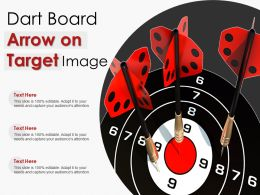 Dart Board Arrow On Target Image