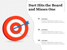 Dart Hits The Board And Misses One