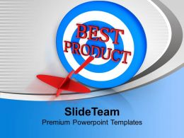 Dart Hitting Best Product Advertising PowerPoint Templates PPT Themes And Graphics 0113