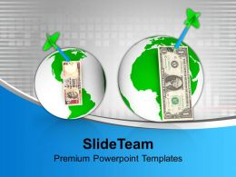 dart_hitting_currencies_over_the_globes_business_powerpoint_templates_ppt_backgrounds_for_slides_0113_Slide01