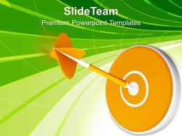 Dart Hitting Target Goal Achieved Powerpoint Templates Ppt Themes And Graphics 0213