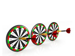 Dart Hitting Target Showing Concept Of Business Success Stock Photo