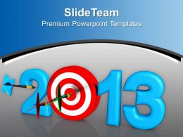 Dart Hook Target New Year Challenge PowerPoint Templates PPT Themes And Graphics 0113