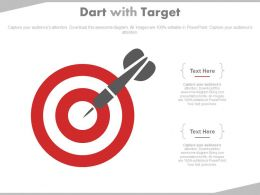 Dart With Board For Sale Target Analysis Powerpoint Slides