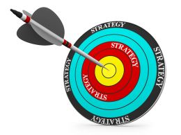 Dartboard Displaying Target Success And Business Strategy Stock Photo