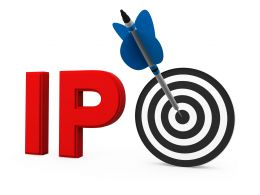 Dartboard With Arrow Displaying Target Of Ipo Stock Photo