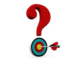 Dartboard With Question Mark Showing Target Of Question Stock Photo