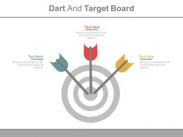 Darts And Target Board For Target Achievement Powerpoint Slides