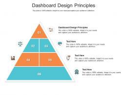 Dashboard Design Principles Ppt Powerpoint Presentation Ideas Slides Cpb