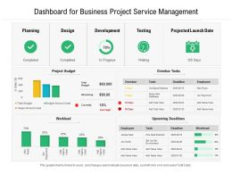 Dashboard For Business Project Service Management