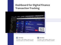 Dashboard For Digital Finance Transaction Tracking