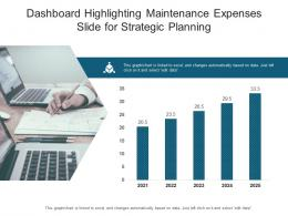 Dashboard Highlighting Maintenance Expenses Slide For Strategic Planning Powerpoint Template