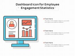 Dashboard Icon For Employee Engagement Statistics