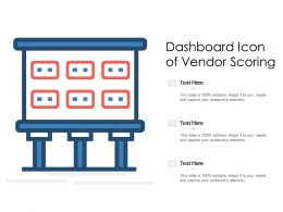 Dashboard Icon Of Vendor Scoring