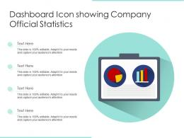 Dashboard Icon Showing Company Official Statistics