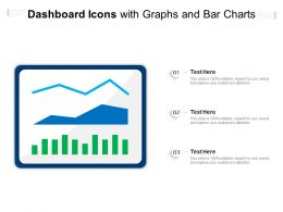 Dashboard Icons With Graphs And Bar Charts
