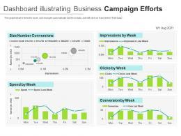 Dashboard Illustrating Business Campaign Efforts