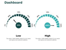 Dashboard Low High I237 Ppt Powerpoint Presentation Ideas Icons