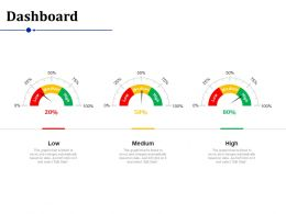 Dashboard Low Medium High Ppt Powerpoint Presentation Background Images