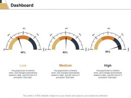 Dashboard Medium Low Ppt Powerpoint Presentation Layouts Layouts