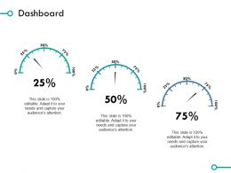 Dashboard Percentage Ppt Powerpoint Presentation File Background Images