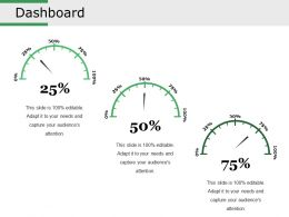 Dashboard Powerpoint Slide Designs