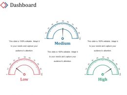 Dashboard Powerpoint Slide Template 1