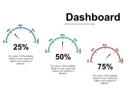 Dashboard Ppt Visual Aids Icon