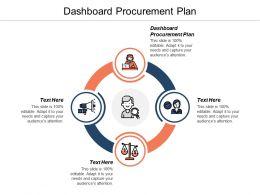 Dashboard Procurement Plan Ppt Powerpoint Presentation Gallery Diagrams Cpb