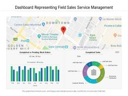 Dashboard Representing Field Sales Service Management