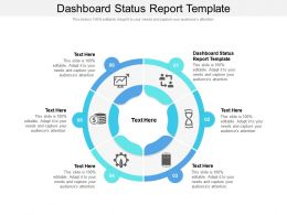 Dashboard Status Report Template Ppt Powerpoint Presentation Model Visuals Cpb