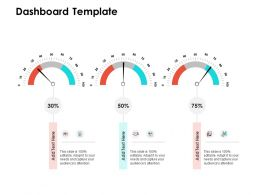 Dashboard Template M108 Ppt Powerpoint Presentation Pictures Clipart Images
