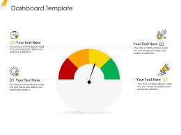 Dashboard Template Ppt Powerpoint Presentation Show Deck