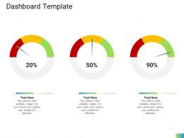 Dashboard Template Standardizing Supplier Performance Management Process Ppt Clipart