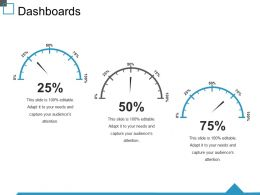 Dashboards Ppt Summary Master Slide