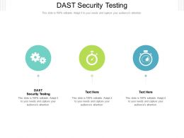 DAST Security Testing Ppt Powerpoint Presentation Gallery Design Ideas Cpb